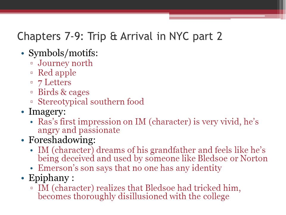 Chapters 7-9: Trip & Arrival in NYC part 2