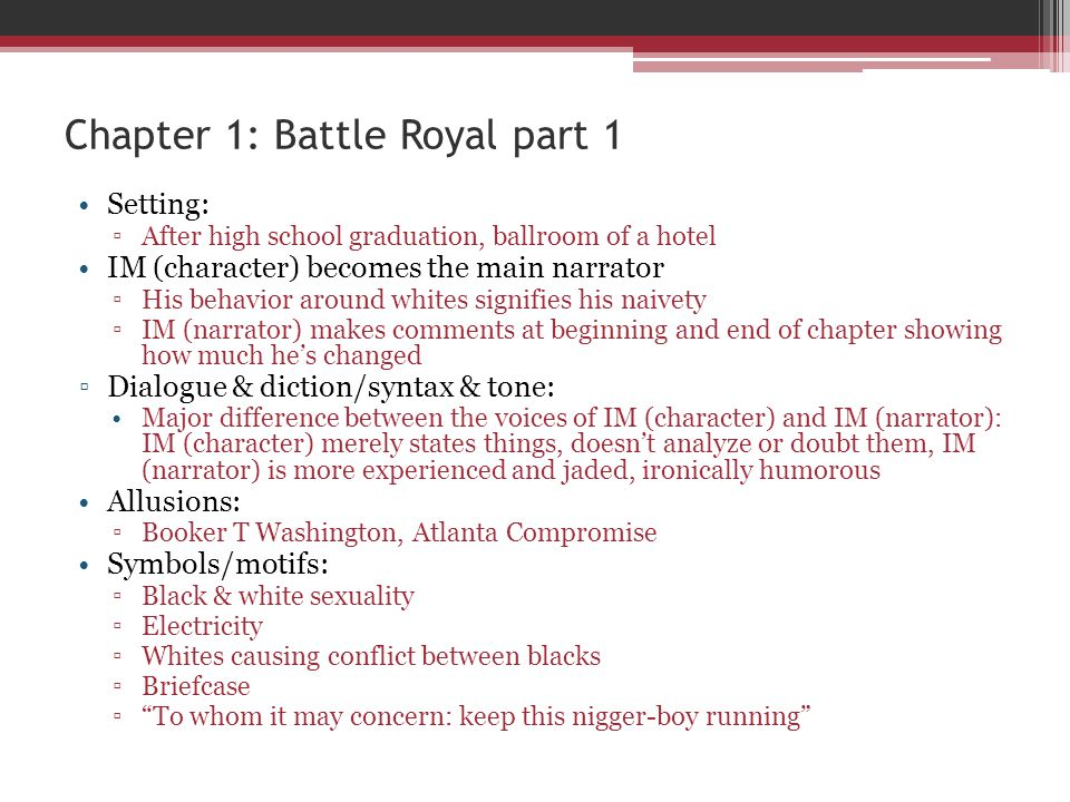 Chapter 1: Battle Royal part 1