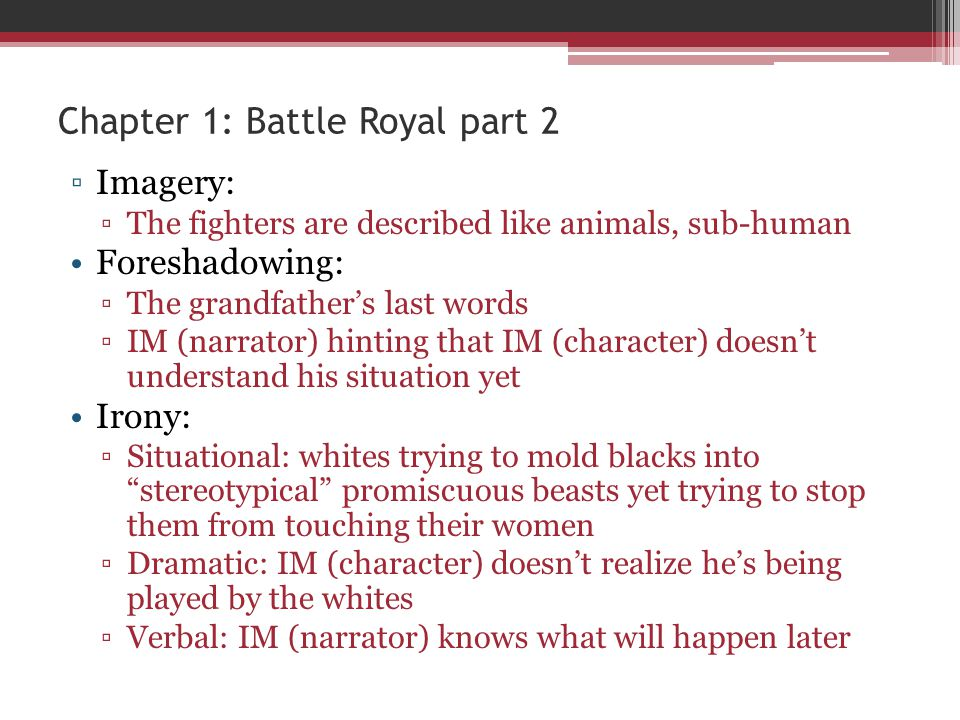 Chapter 1: Battle Royal part 2