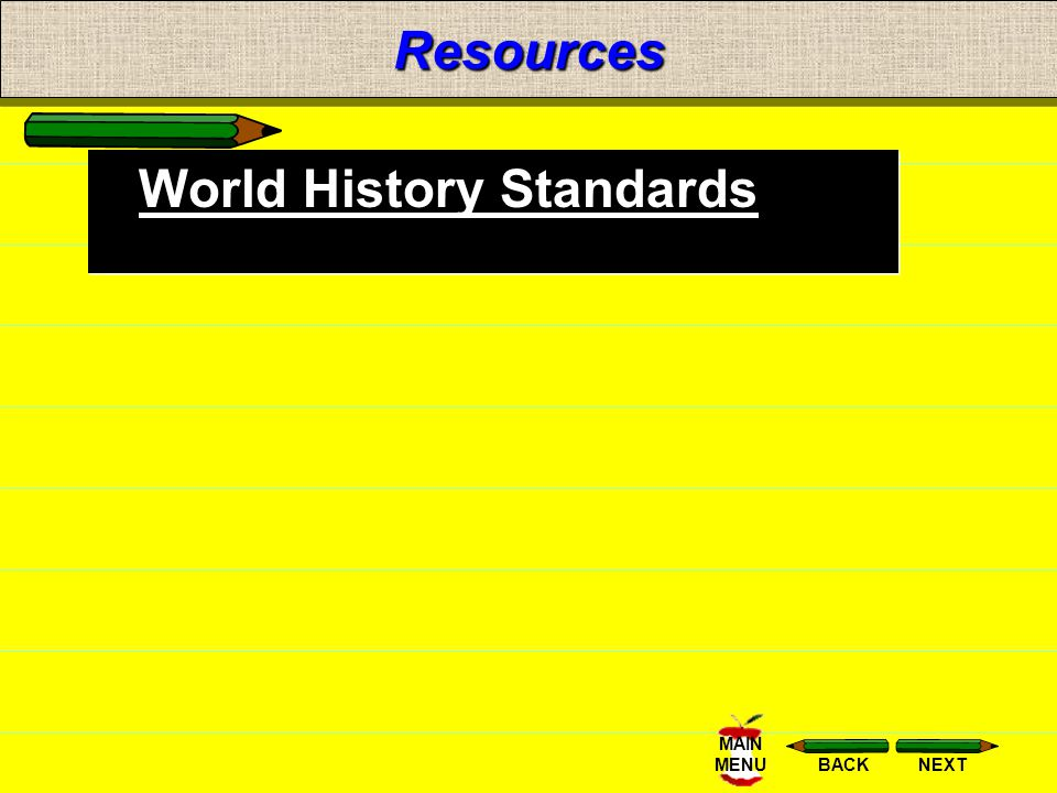 Resources World History Standards