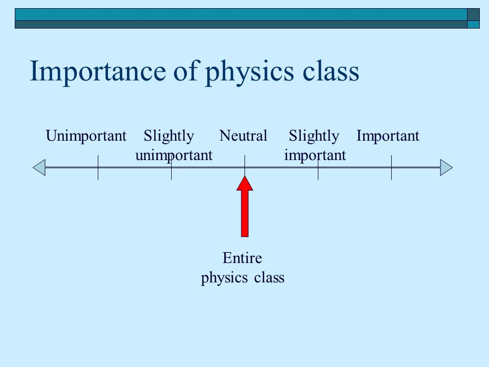 Importance of physics class