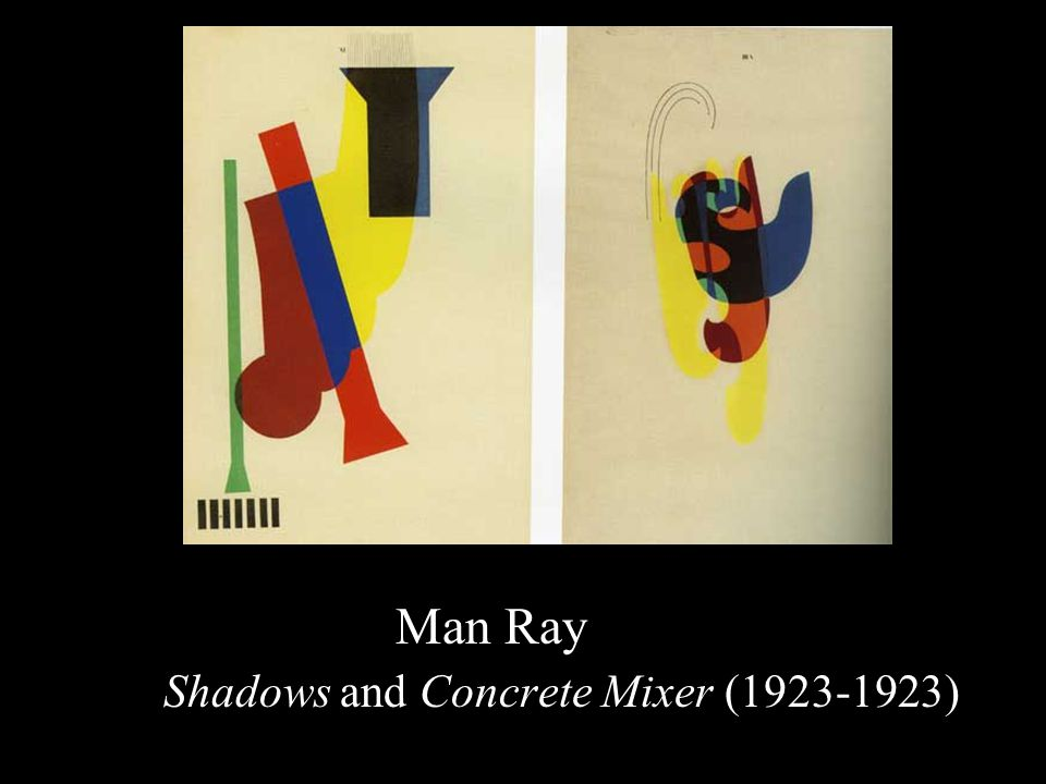 Man Ray Shadows and Concrete Mixer (1923-1923)