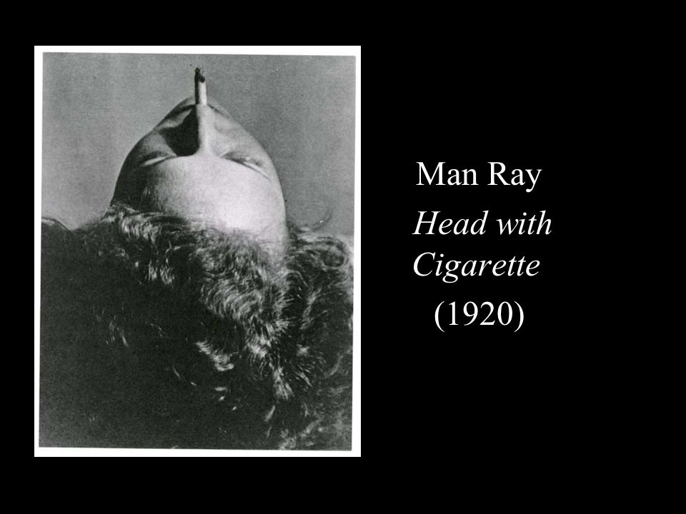 Man Ray Head with Cigarette (1920)