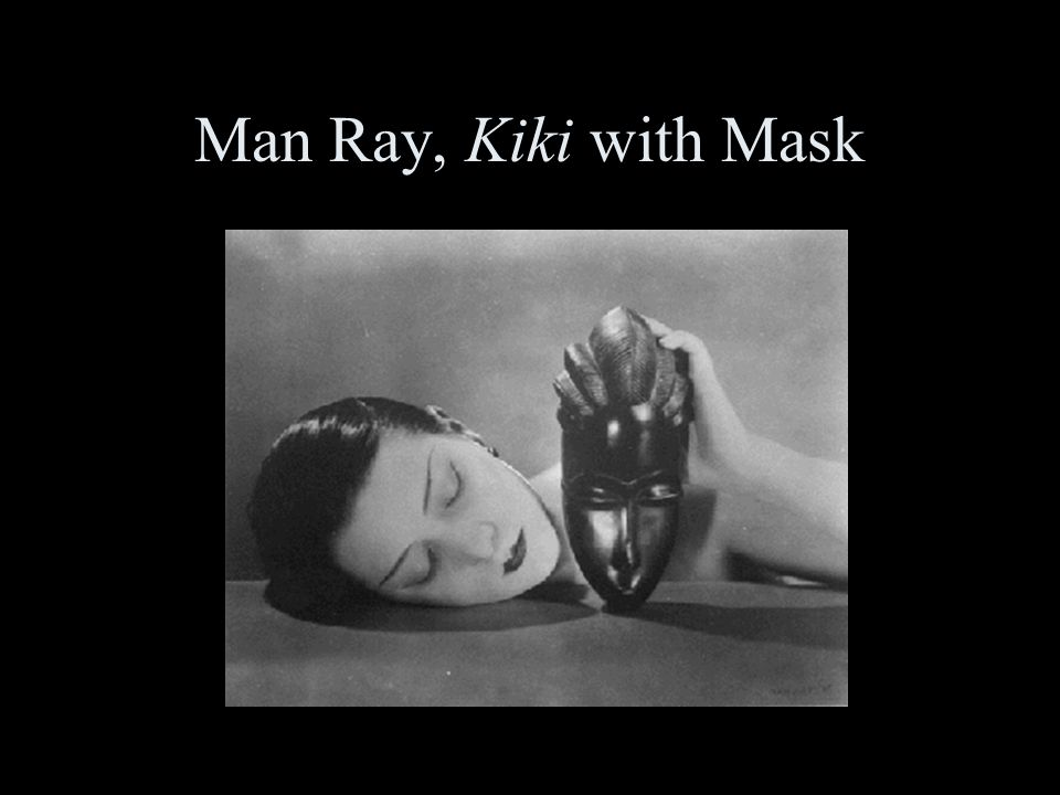 Man Ray, Kiki with Mask