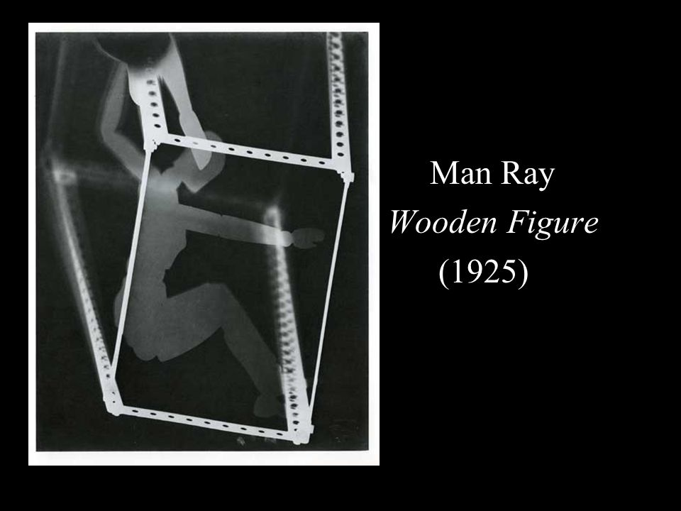 Man Ray Wooden Figure (1925)
