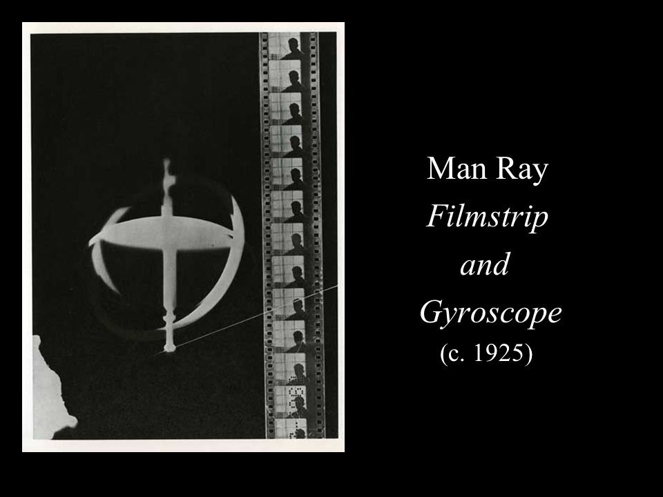 Man Ray Filmstrip and Gyroscope (c. 1925)