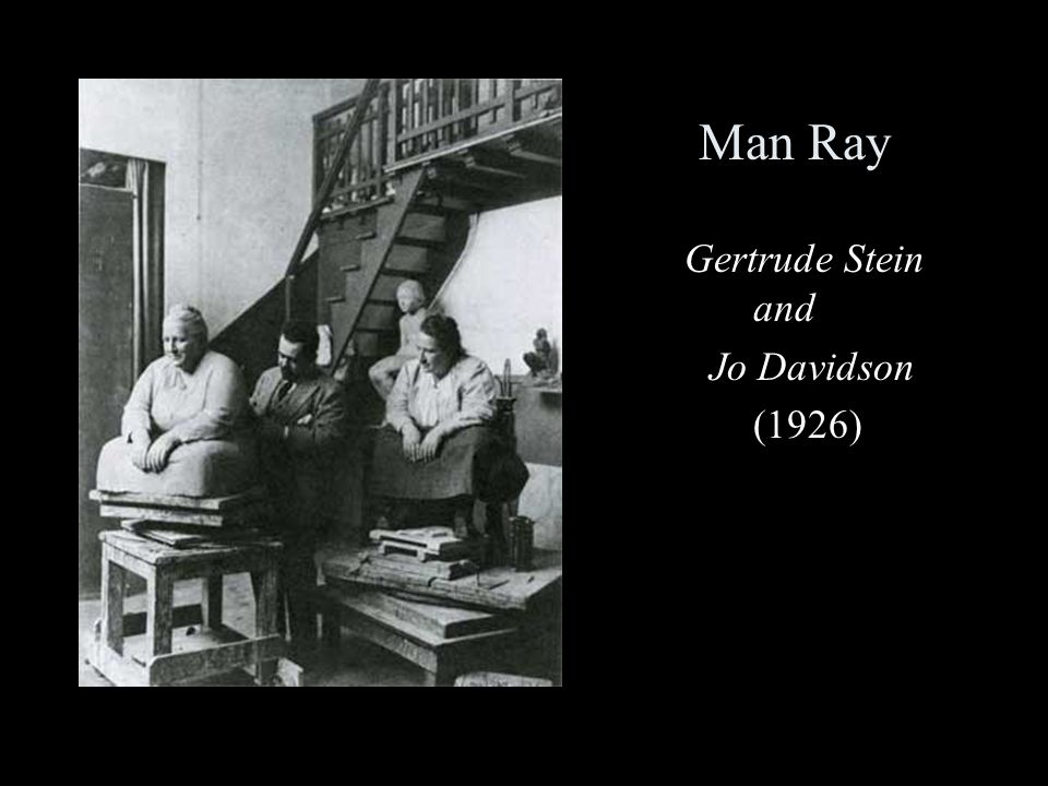Man Ray Gertrude Stein and Jo Davidson (1926)
