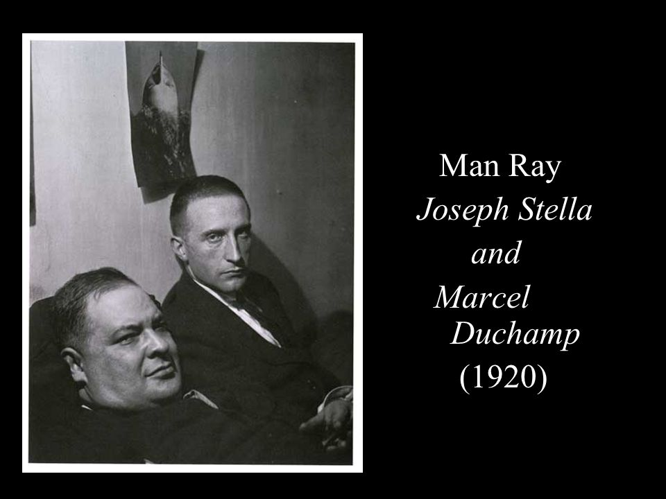 Man Ray Joseph Stella and Marcel Duchamp (1920)
