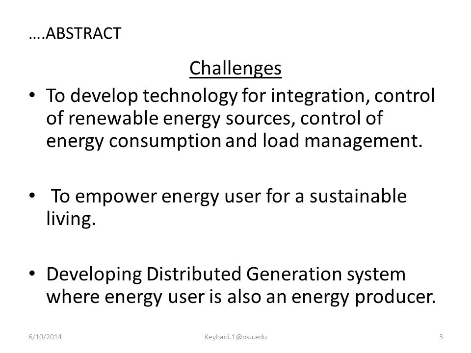 To empower energy user for a sustainable living.