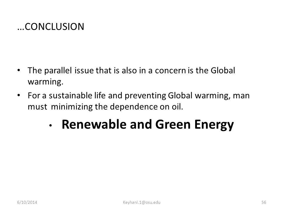 Renewable and Green Energy