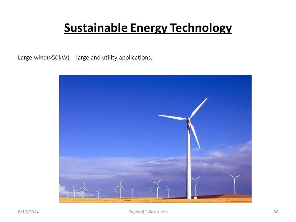 Sustainable Energy Technology