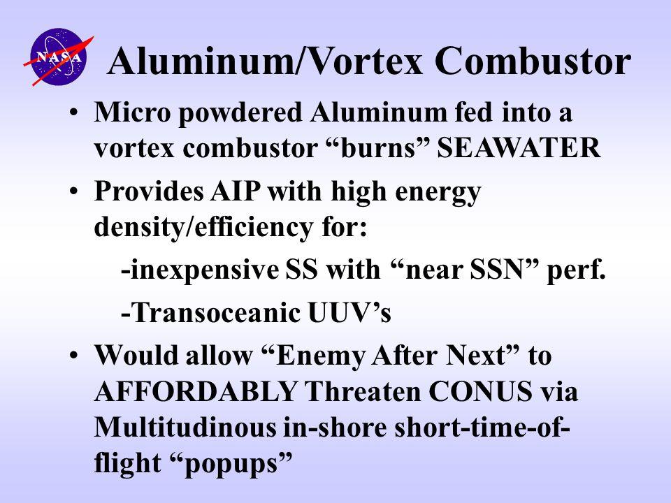 Aluminum/Vortex Combustor