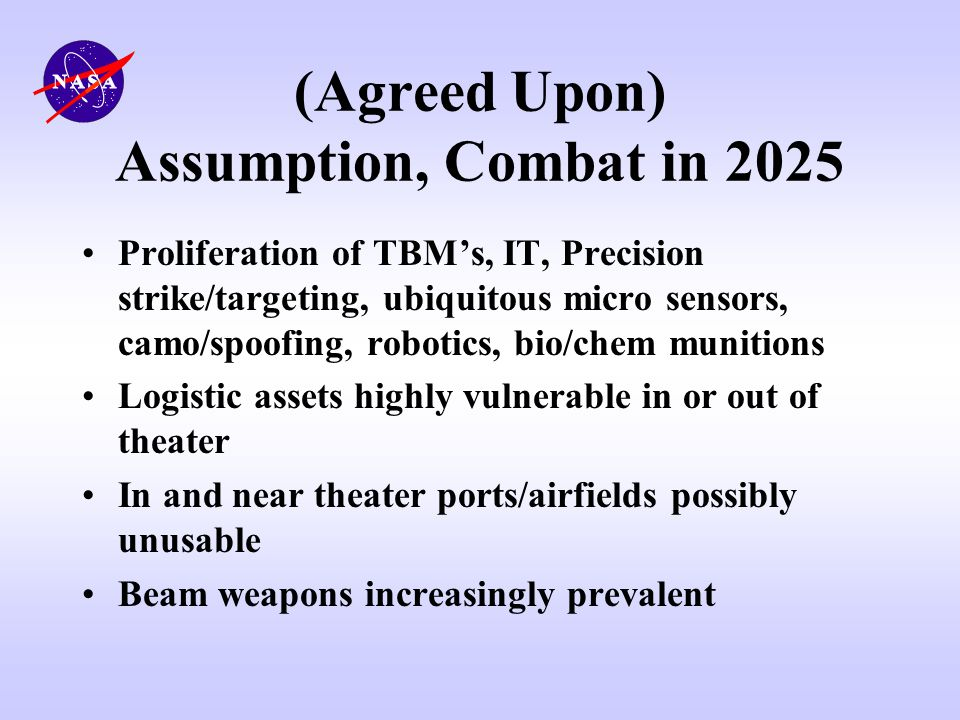(Agreed Upon) Assumption, Combat in 2025