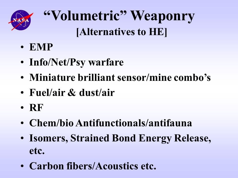 Volumetric Weaponry