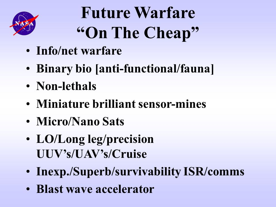 Future Warfare On The Cheap