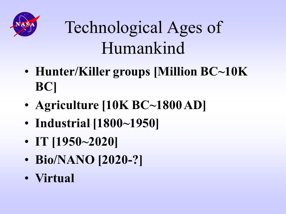Technological Ages of Humankind