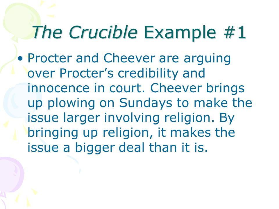 The Crucible Example #1