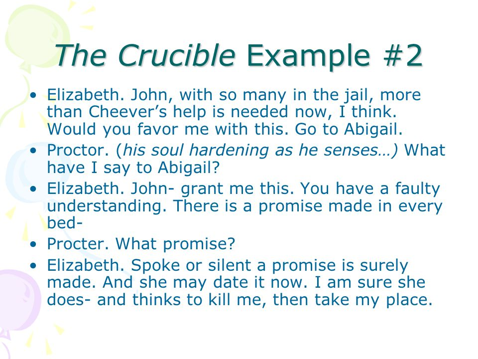 The Crucible Example #2