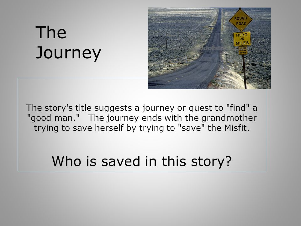 Who is saved in this story