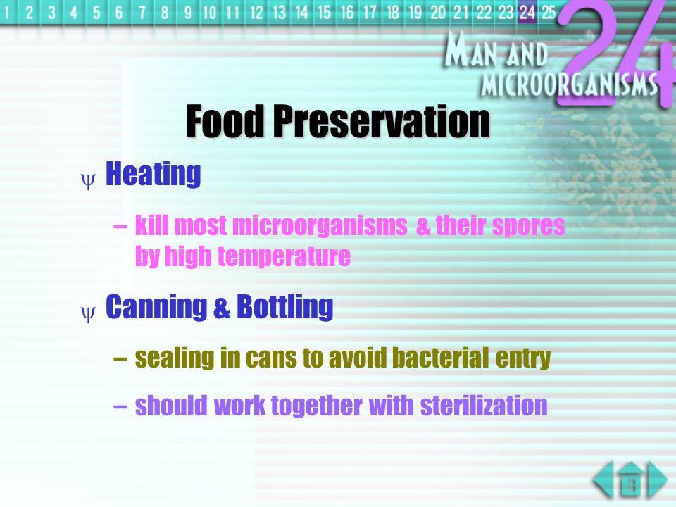 Food Preservation Heating Canning & Bottling