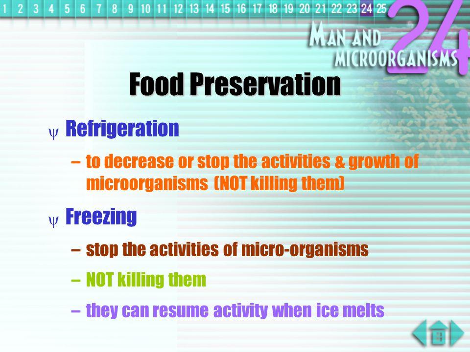Food Preservation Refrigeration Freezing