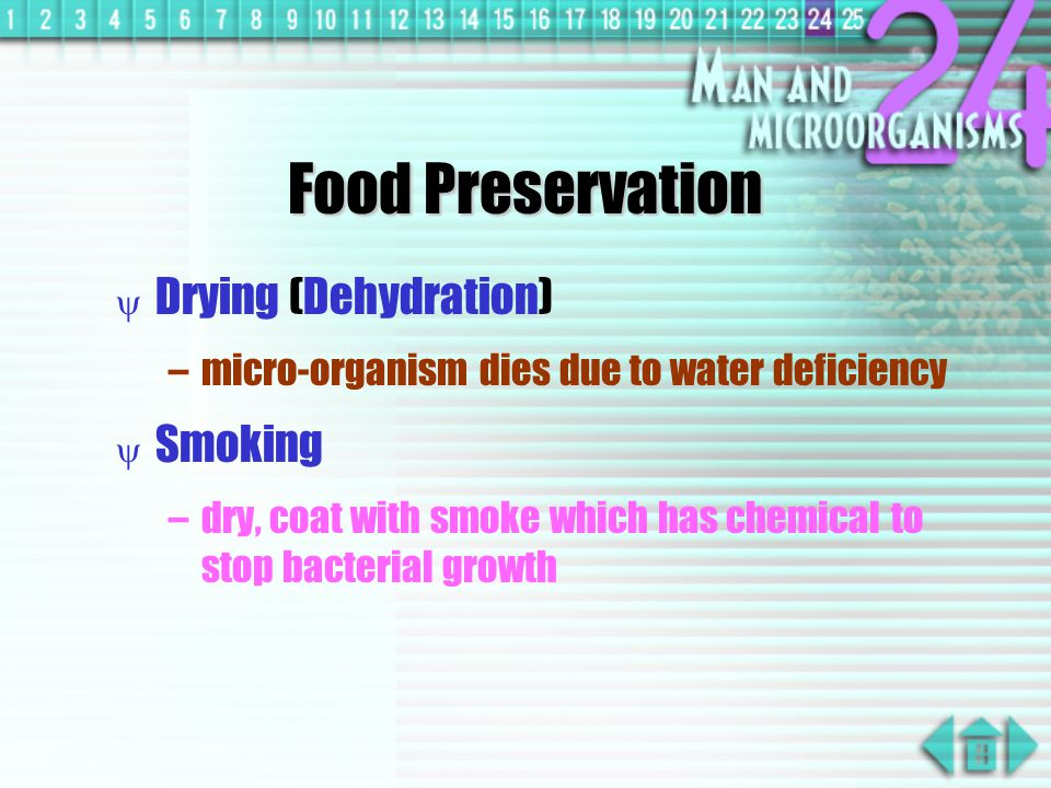 Food Preservation Drying (Dehydration) Smoking