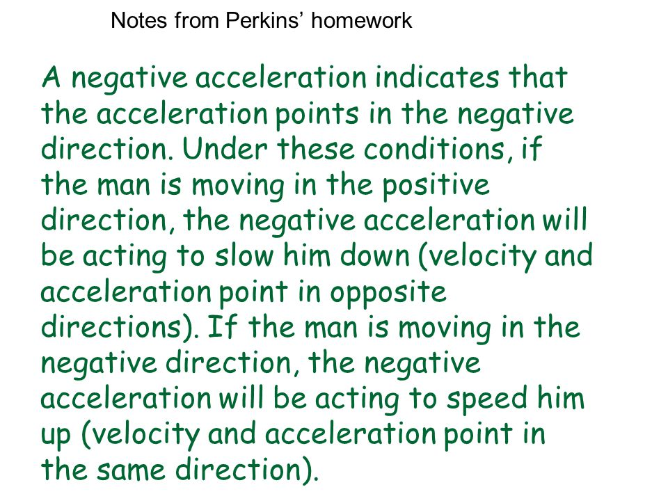 Notes from Perkins' homework
