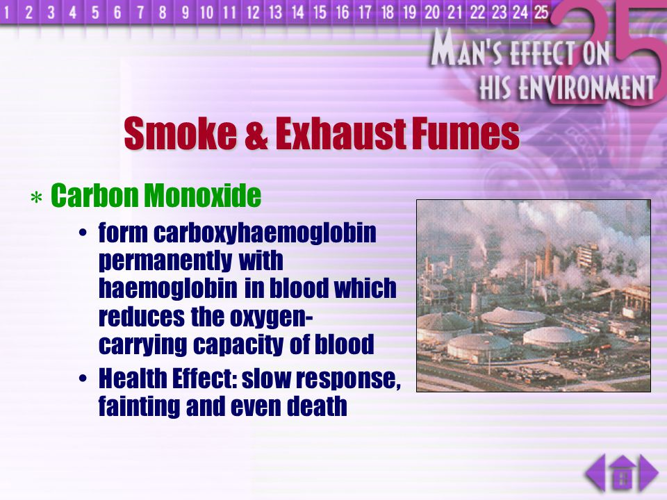 Smoke & Exhaust Fumes Carbon Monoxide