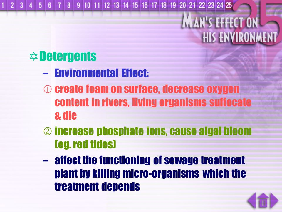 Detergents Environmental Effect: