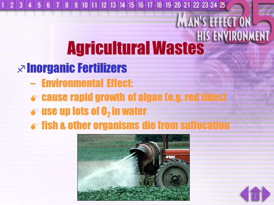 Agricultural Wastes Inorganic Fertilizers Environmental Effect: