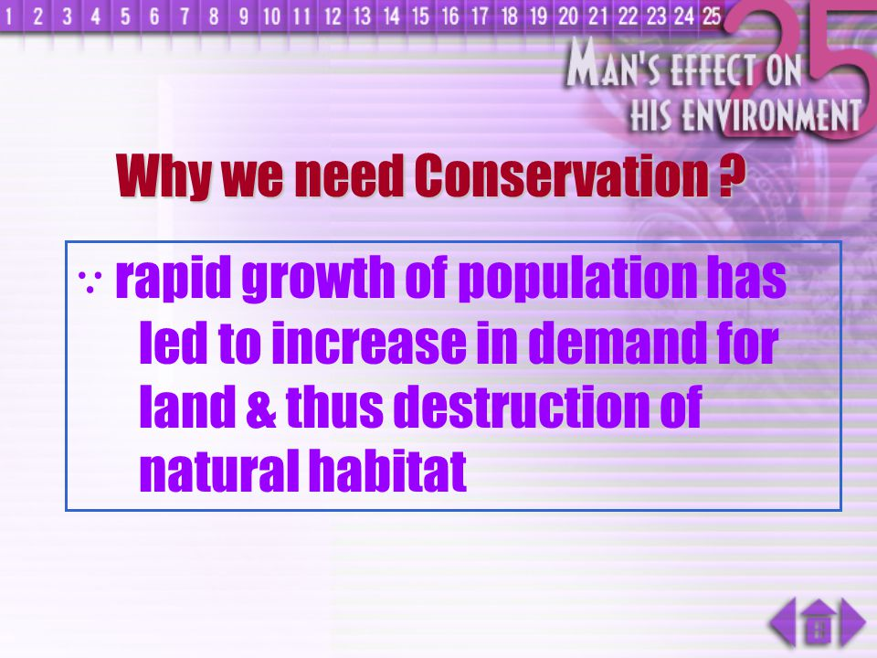 Why we need Conservation