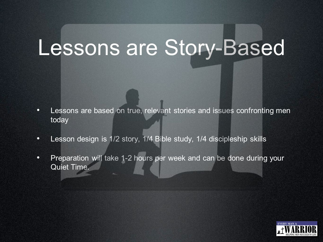 Lessons are Story-Based