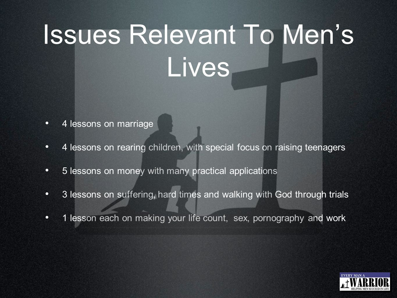 Issues Relevant To Men's Lives