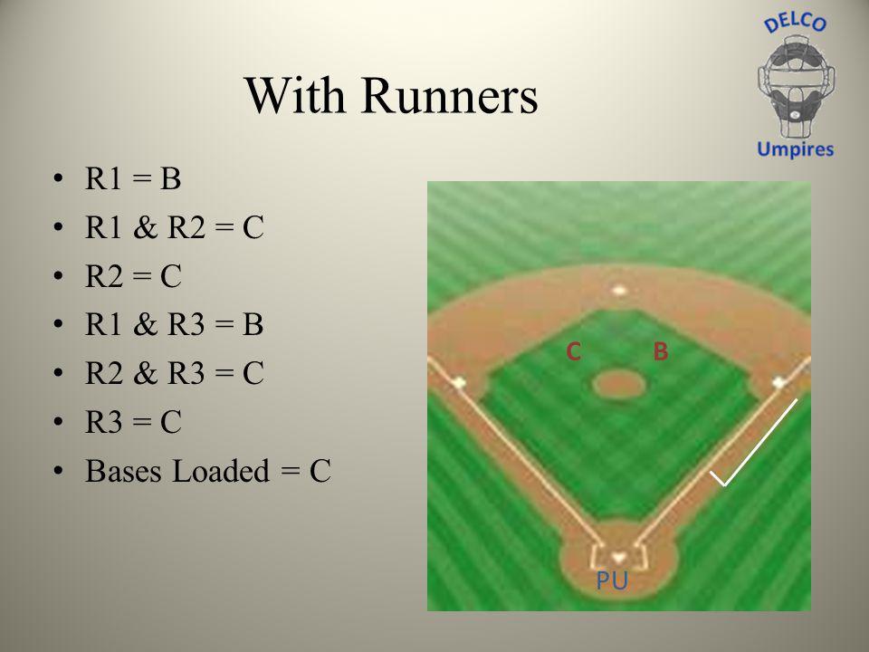 With Runners R1 = B R1 & R2 = C R2 = C R1 & R3 = B R2 & R3 = C R3 = C