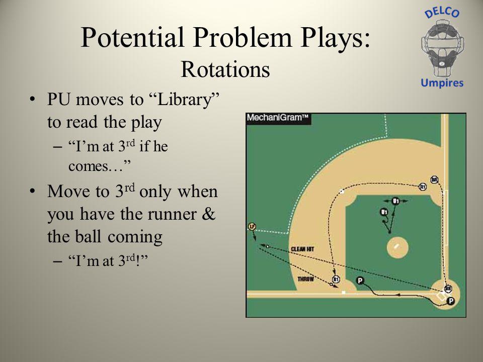 Potential Problem Plays: Rotations