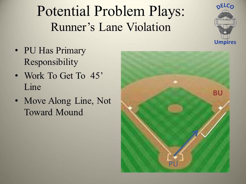 Potential Problem Plays: Runner's Lane Violation