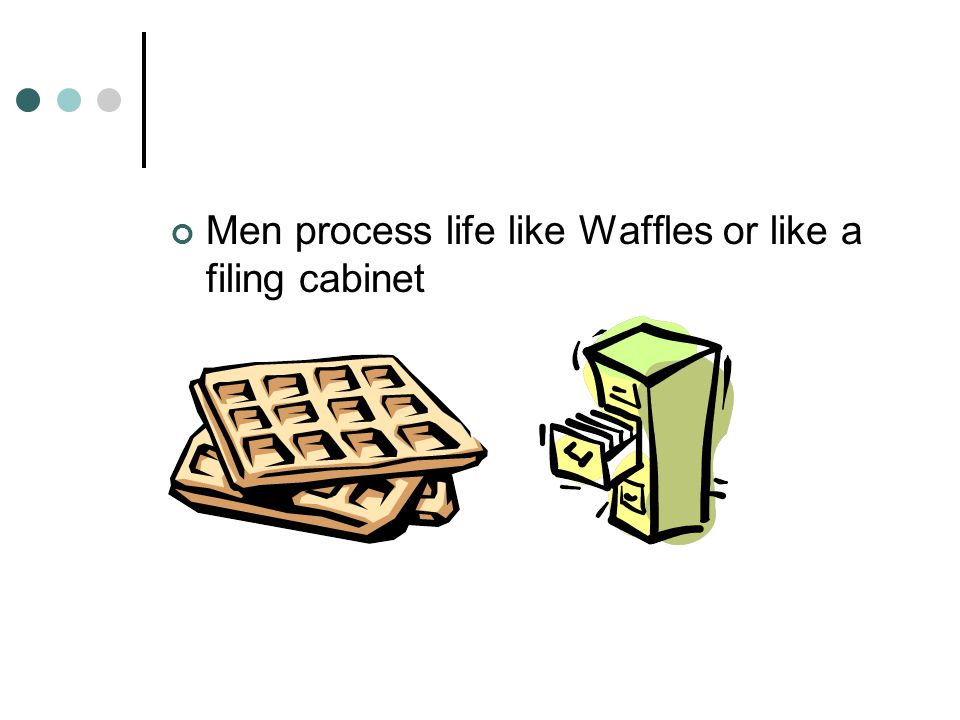 Men process life like Waffles or like a filing cabinet