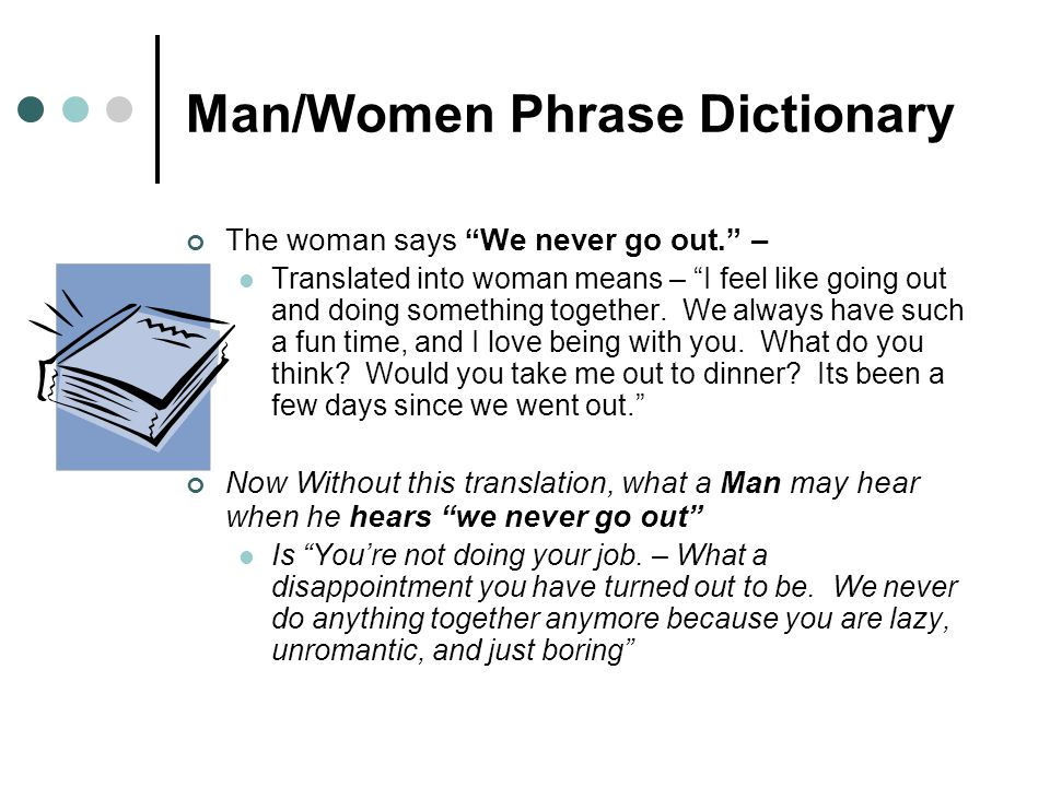 Man/Women Phrase Dictionary