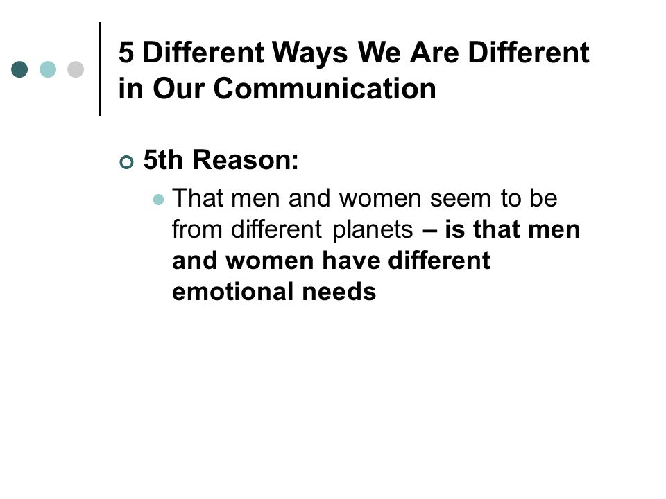 5 Different Ways We Are Different in Our Communication