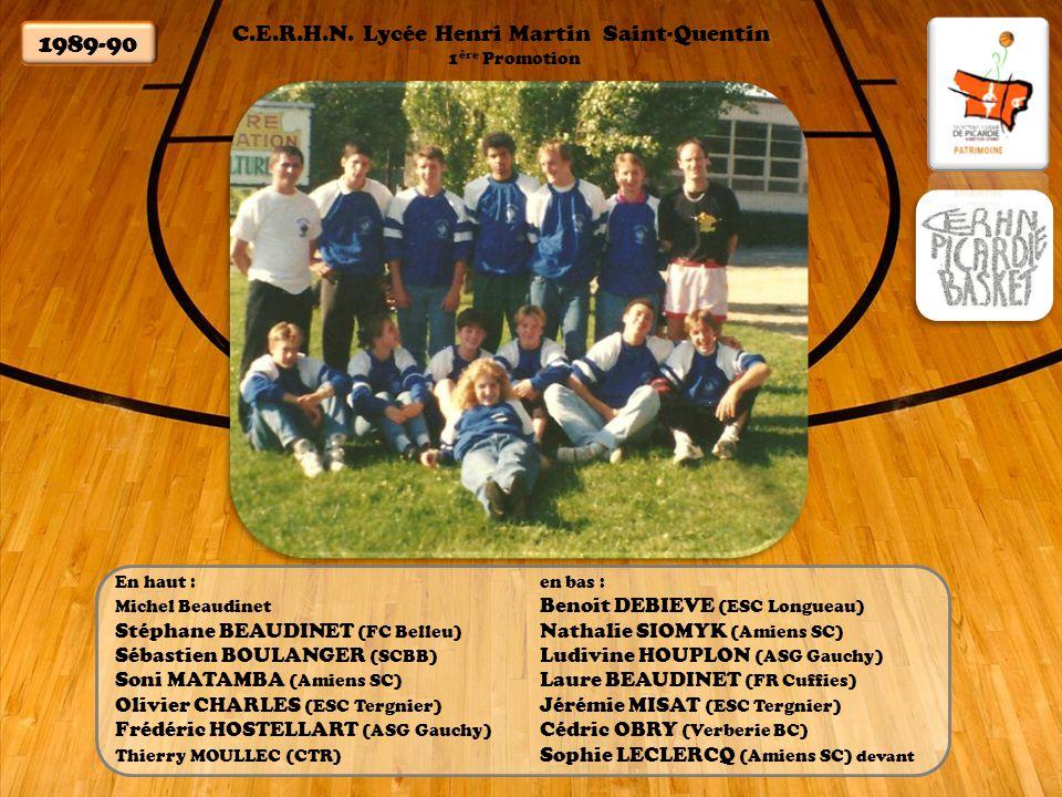 1989-90 C.E.R.H.N. Lycée Henri Martin Saint-Quentin