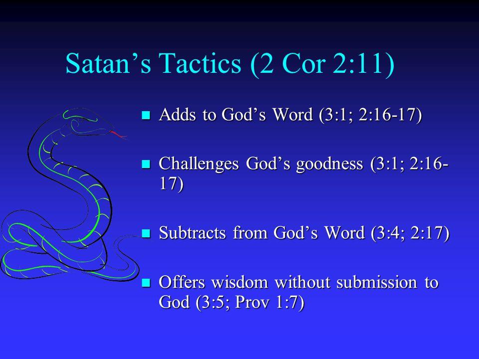 Satan's Tactics (2 Cor 2:11)