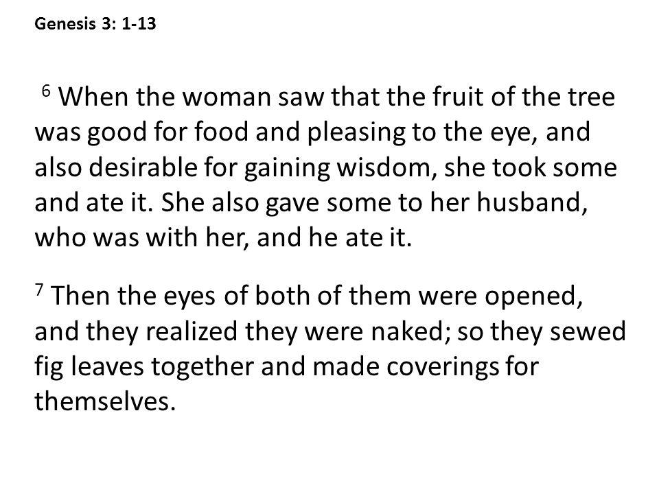 Genesis 3: 1-13