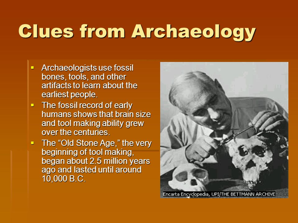 Clues from Archaeology