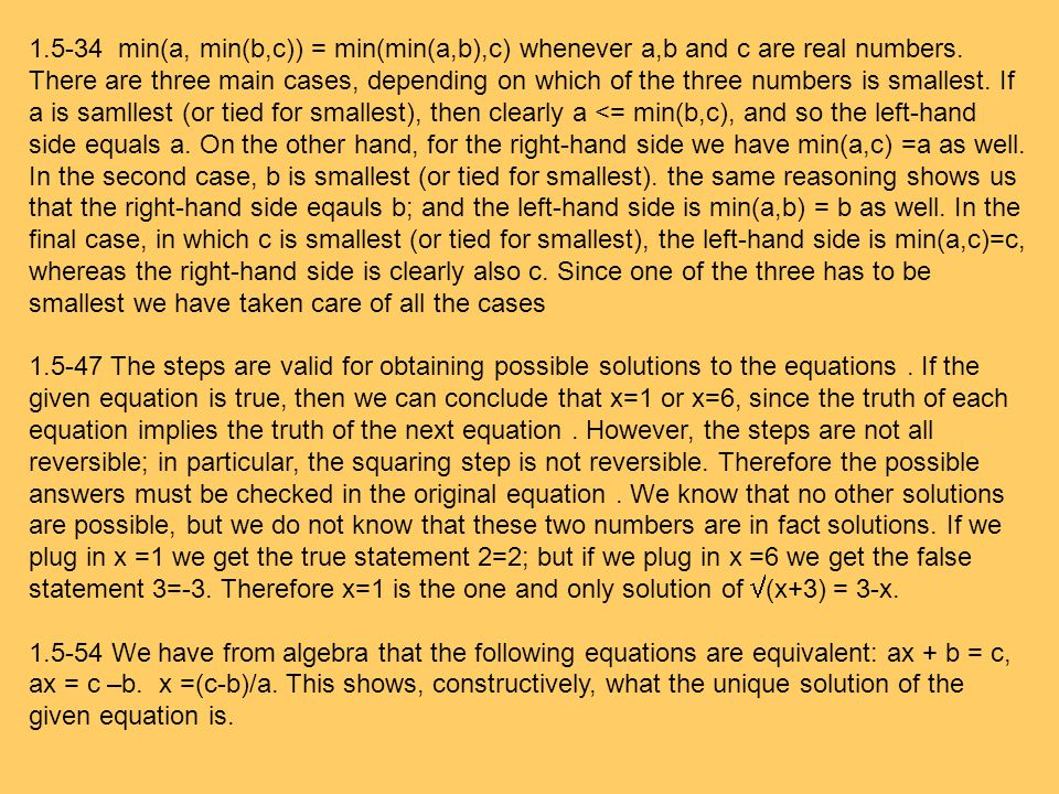1.5-34 min(a, min(b,c)) = min(min(a,b),c) whenever a,b and c are real numbers.