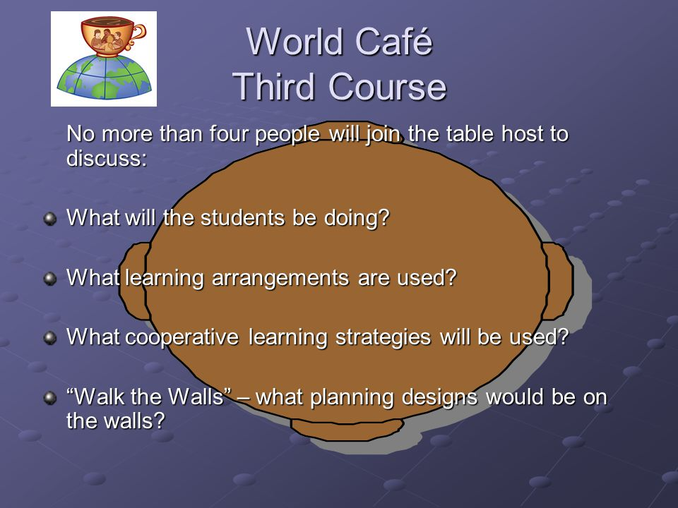 World Café Third Course