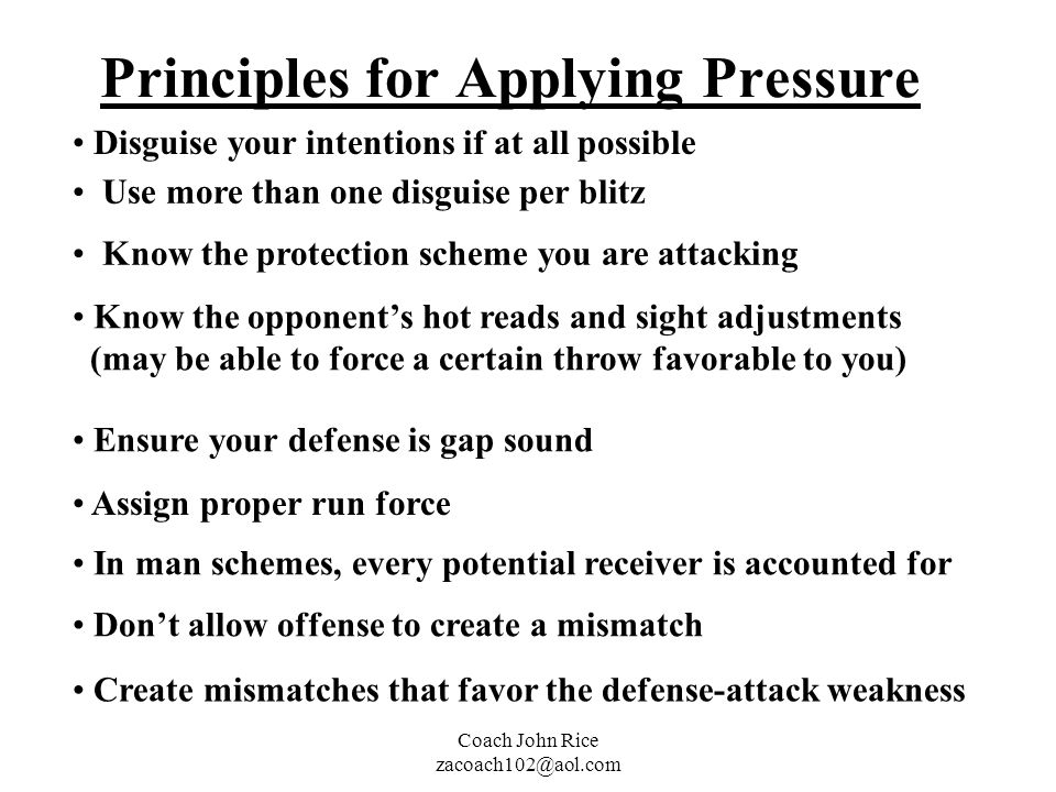 Principles for Applying Pressure