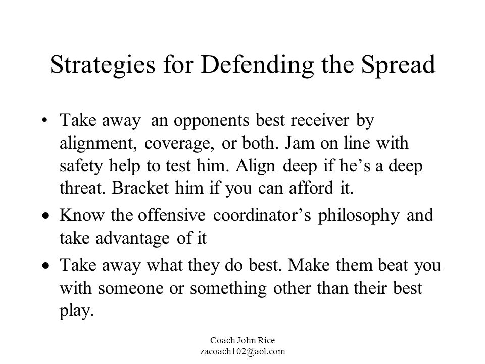 Strategies for Defending the Spread