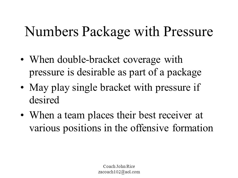 Numbers Package with Pressure