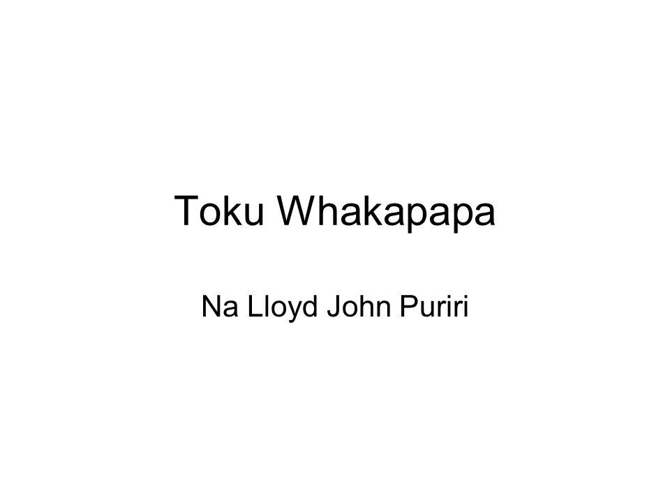 Toku Whakapapa Na Lloyd John Puriri