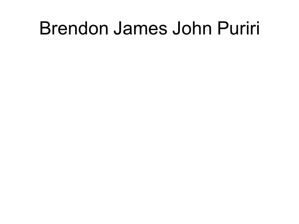 Brendon James John Puriri